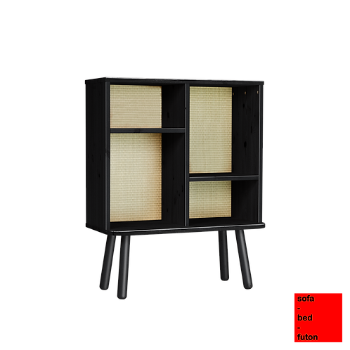 ξύλινη Ιαπωνική ραφιέρα για το καθιστικό ή την κερβατοκάμαρα