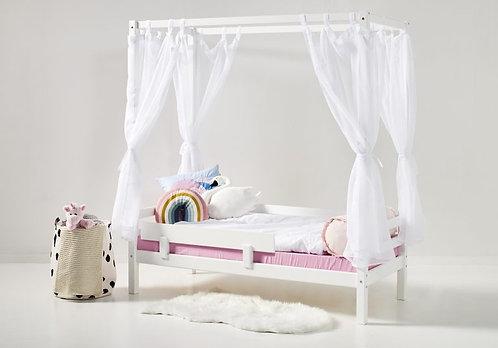 παιδικό κρεβάτι με ουρανό αφαιρούμενο σε λευκό χρώμα για στρώμα 90Χ190