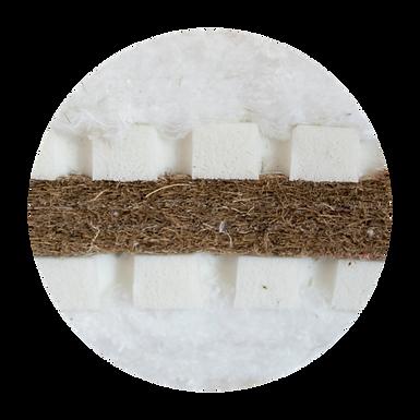 Sandwich Futon / Στρώμα Φουτόν με Φυσικό Λάτεξ/Βαμβάκι/Κοκοφοίνικα