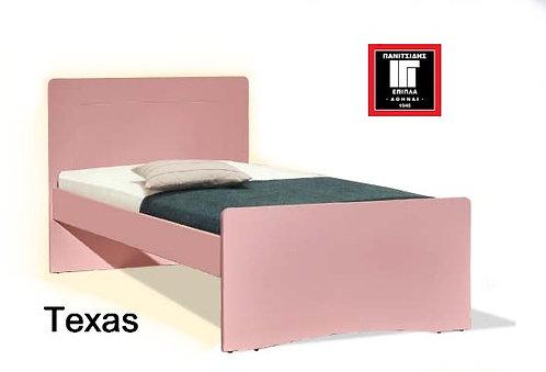 διπλό κρεβάτι σε πολλά χρώματα για στρώμα 140Χ200
