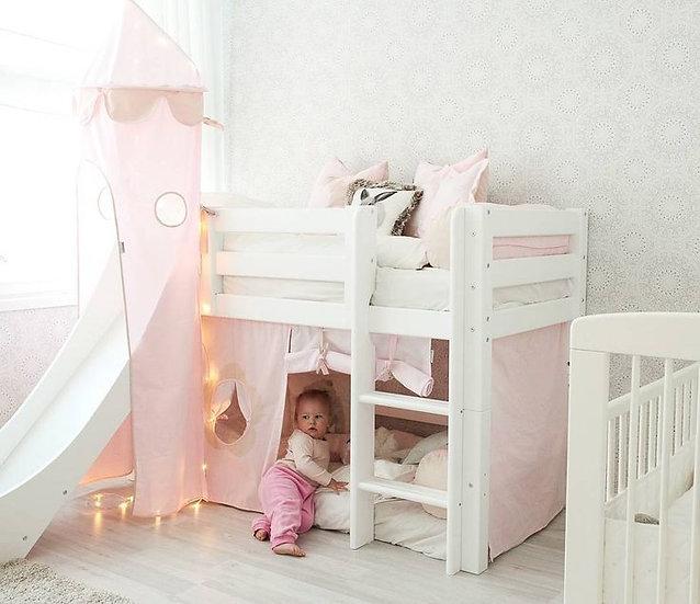 κουκέτα κρεβάτι μωρού μικρού παιδιού χαμηλή με αφαιρούμενη τσουλήθρα