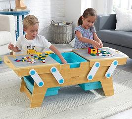 Building Bricks Play N' Store Table / Τραπέζι αποθήκευσης και παιχνιδιού