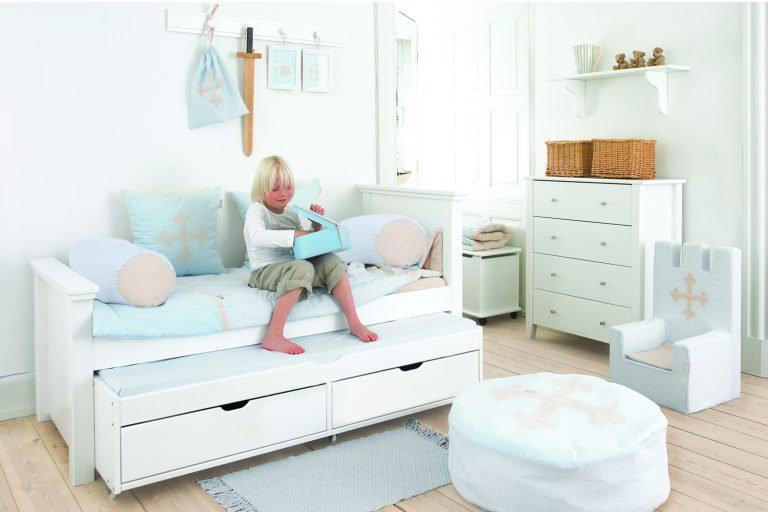 ξύλινο παιδικό εφηβικό κρεβάτι με 2ο συρόμενο κρεβάτι και 2 συρτάρια