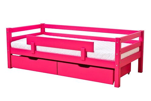 κρεβατάκι παιδικό χρωματιστό με πλάτη