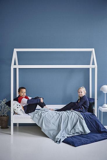 κρεβατάκι για μικρά παιδάκια σπιτακι σε λευκό ξύλο