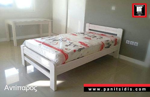 μασίφ ξύλινο κρεβάτι από πεύκο, παράγεται σε όλες τις διαστάσεις και χρώματα