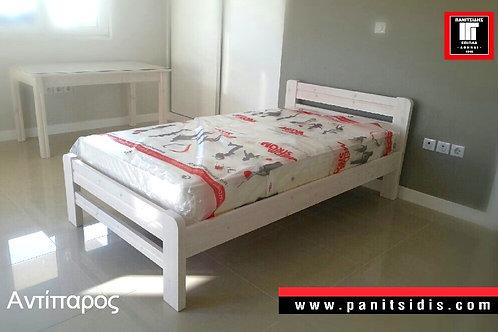 Μονό κρεβάτι μασίφ ξύλο παιδικό έφηβικό για στρώμα 90Χ190/200
