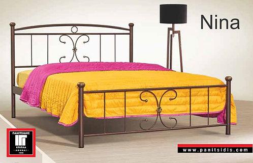 ημίδιπλο μεταλλικό κρεβάτι για στρώμα 110Χ190/200 οικονομικό-προσφορά