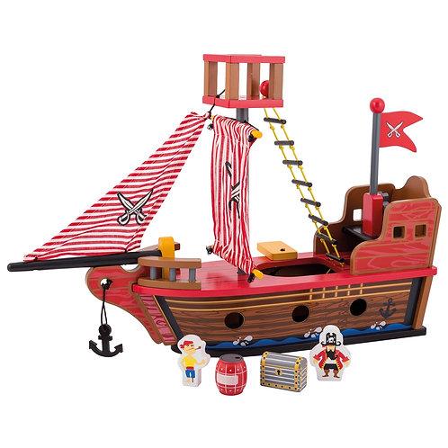 Ξύλινο οικολογικό καράβι με αξεσουάρ
