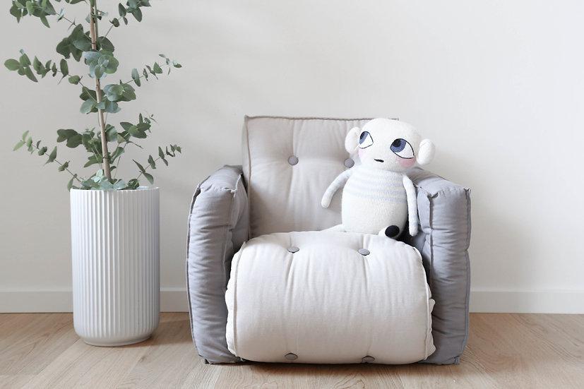 πολυθρόνα για μικρά παιδάκια φουτόν που γίνεται κρεβατάκι