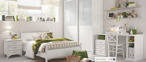 Anastasia / Ξύλινο κρεβάτι ημίδιπλο