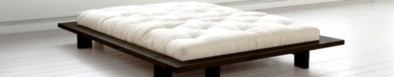 διπλό κρεβάτι από μασίφ ξύλο-πλατφόρμα Ιαπωνικού τύπου