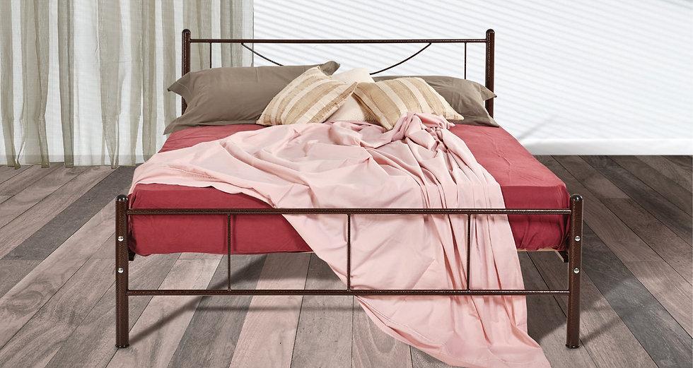 οικονομικό σιδερένιο κρεβάτι σε όλες τις διαστάσεις