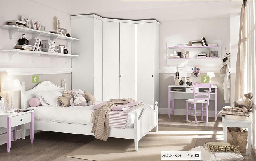 Sibilla / ξύλινο μονό κρεβάτι