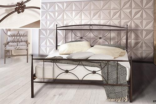 Ημίδιπλο μεταλλικό κρεβάτι 110x190 στιβαρή κατασκευή σε πολλά χρώματα