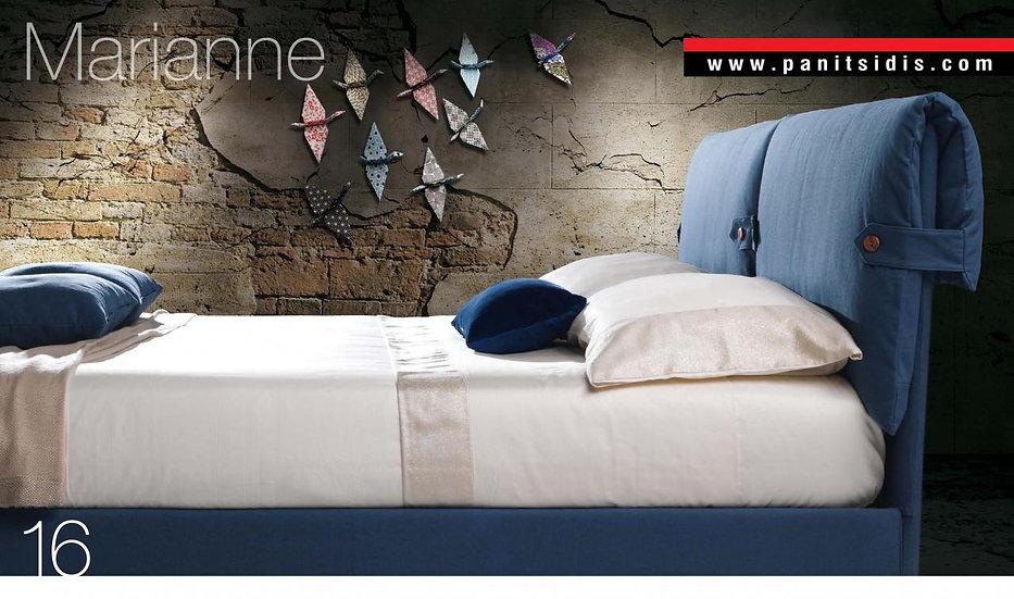 μονό ντυμένο κρεβάτι με ύφασμα, με μαξιλάρες αφαιρούμενες σε πολλά χρώματα