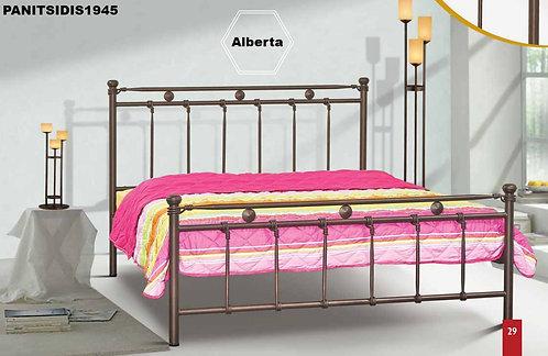 ημίδιπλο σιδερένιο κρεβάτι για στρώμα 110 Χ 190/200