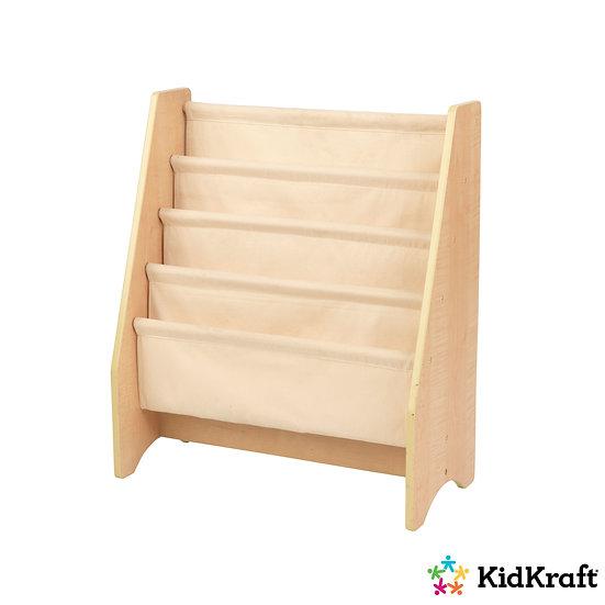 14221 paidiki bibliothiki xilo yfasma βιβλιοθήκη από ξύλο και ύφασμα παιδική kidkraft