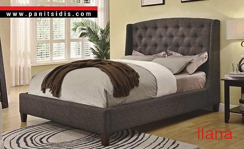 Κλασσικό ντυμένο-καπιτονέ διπλό κρεβάτι για στρώμα 160Χ190/200 εκ., με αποθηκευτικό χώρο