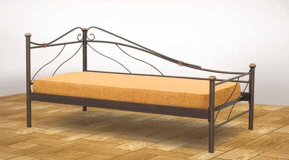 μεταλλικός καναπές κρεβάτι μονός