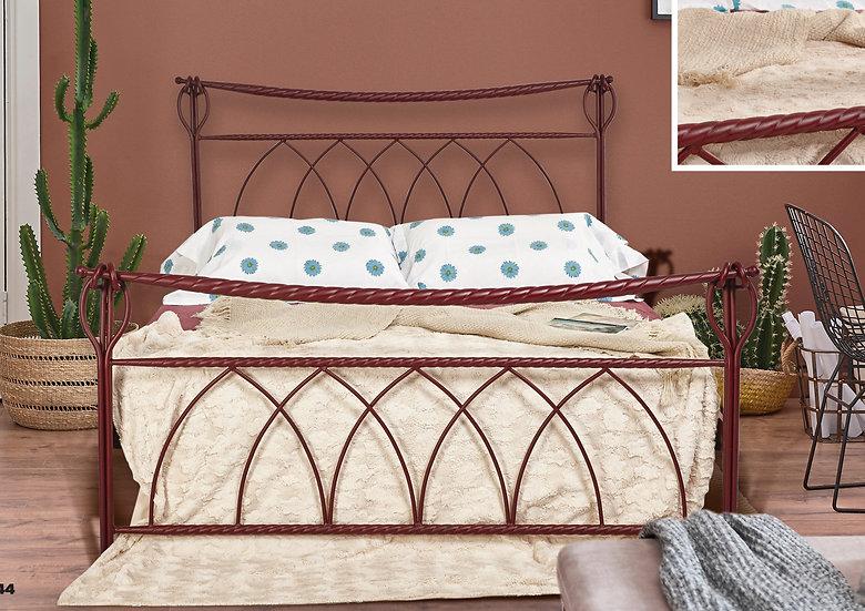 Μασίφ μεταλλικό κρεβάτι στιβαρή κατασκευή σε πολλά χρώματα