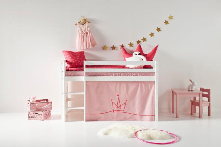 Κουρτινάκι ροζ για κουκέτα