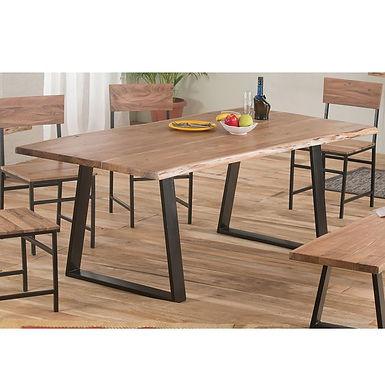 Patmos 200 / μασίφ τραπέζι με μεταλλικά πόδια