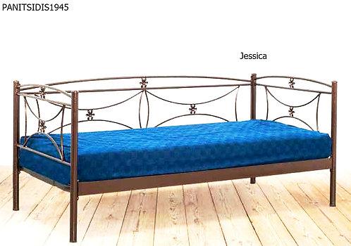 μεταλλικός καναπές-κρεβάτι γαι στρώμα 90Χ190