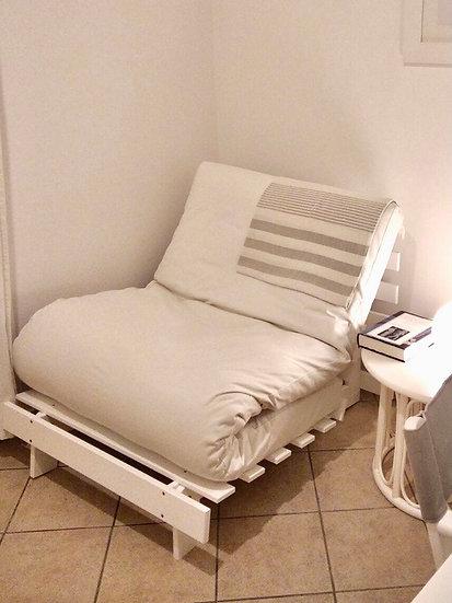 Roots 90 / White / Πολυθρόνα-Κρεβάτι