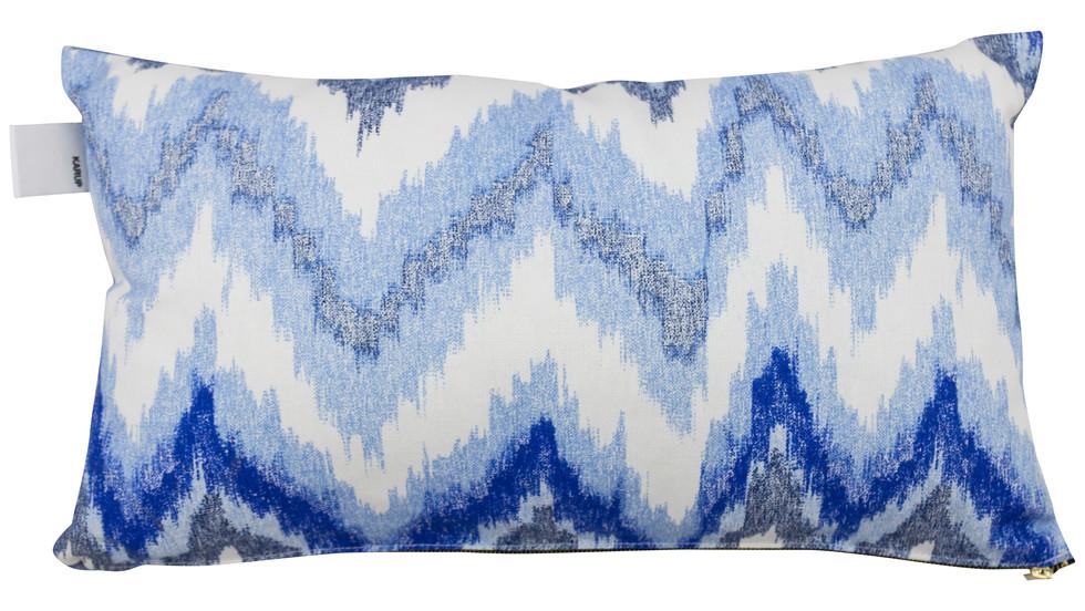 σετ 2 διακοσμητικών μαξιλαριών μακρόστενων από ύφασμα γαλάζιο