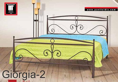 διπλό σιδερένιο κρεβάτι για στρώμα 150Χ200 οικονομικό-προσφορά