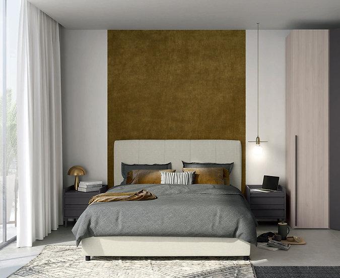 Διπλό ντυμένο Ιταλικό κρεβάτι