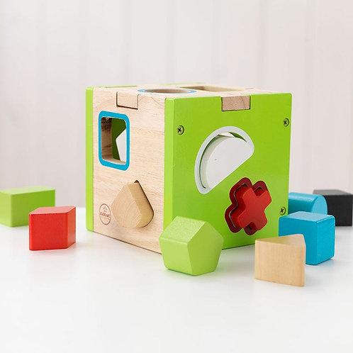 Ξύλινο οικολογικό παιχνίδι / κύβος εκμάθησης / kifkraft toys