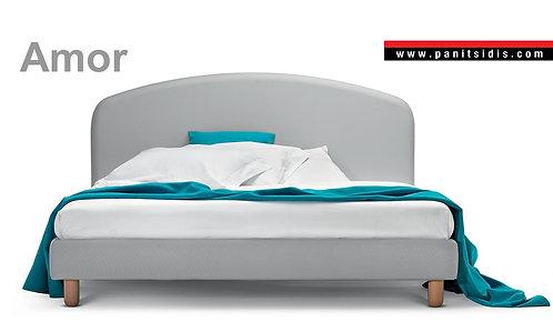 AMOR ντυμένο κρεβάτι
