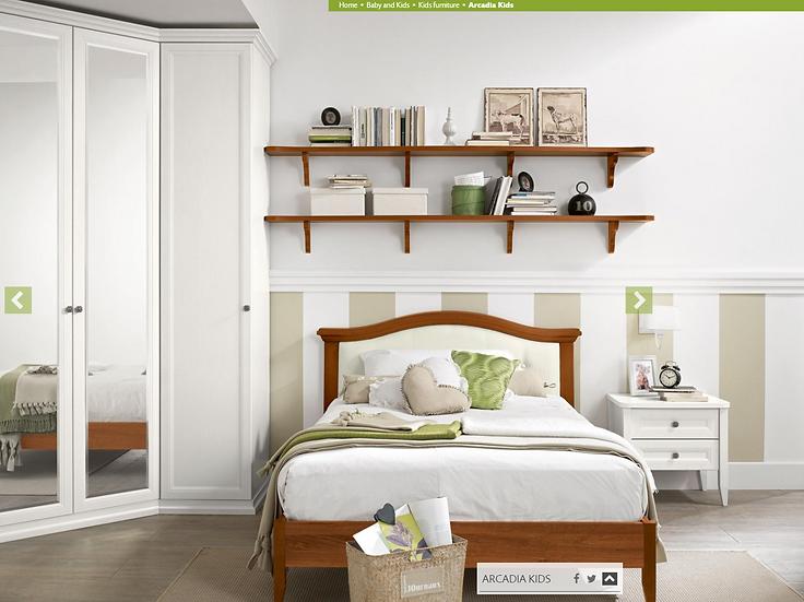 Isabel / Ξύλινο μονό κρεβάτι