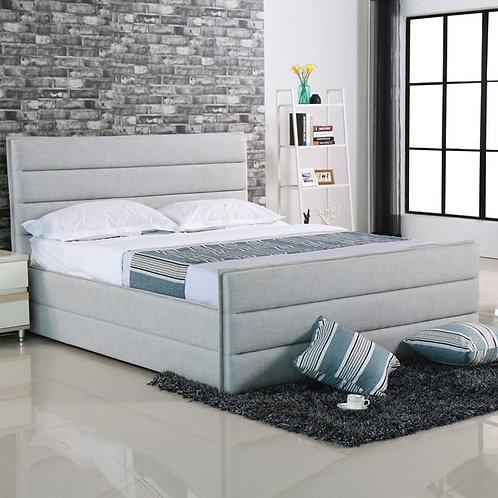 Διπλό ντυμένο κρεβάτι