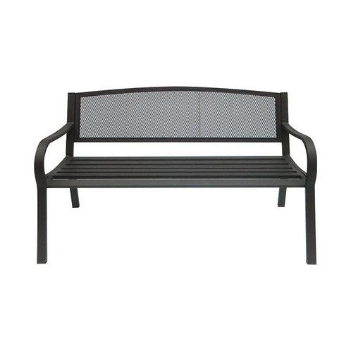μεταλλικός καναπές εξωτερικού χώρου με μπράτσα