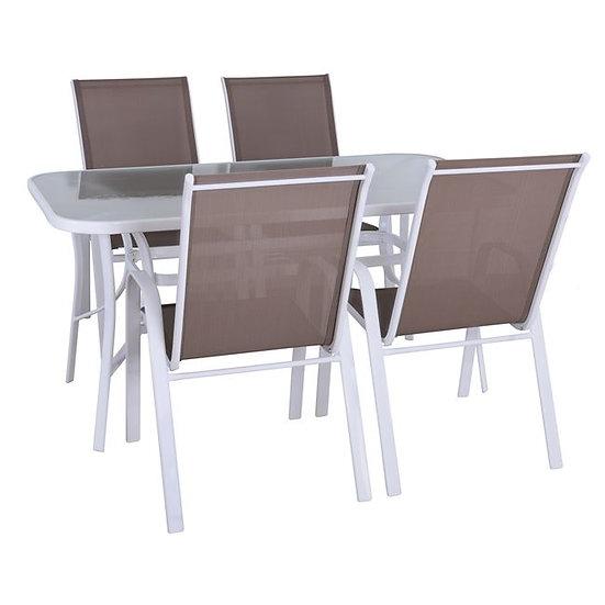 Τραπεζαρία Κήπου οικονομική σετ 4 καρέκλες και τραπέζι 120 εκ.