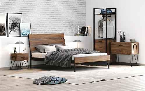 Anne 90 / μονό κρεβάτι μέταλλο-ξύλο