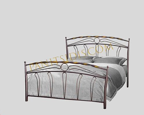 double metal bed 150,διπλό μεταλλικό κρεβάτι 150Χ200 σε πολλά χρώματα μετάλλου