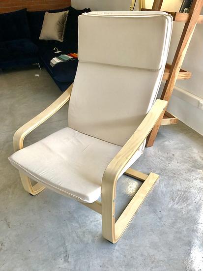 Ole Chair / Πολυθρόνα ξύλο-ύφασμα