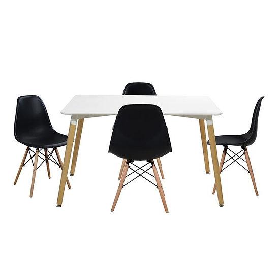 Οικονομικό set τραπέζι και 4 καρέκλες