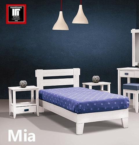 διπλό ξύλινο κρεβάτι πεύκο για ξενοδοχεία ή οικίες για στρώμα 140 Χ 200