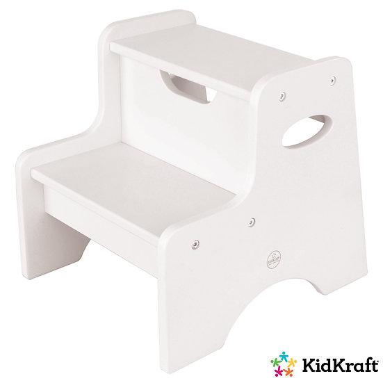 παιδικό σκαμπώ με 2 σκαλοπάτια από ξύλο σε λευκή βαφή αντοχής kidkraft
