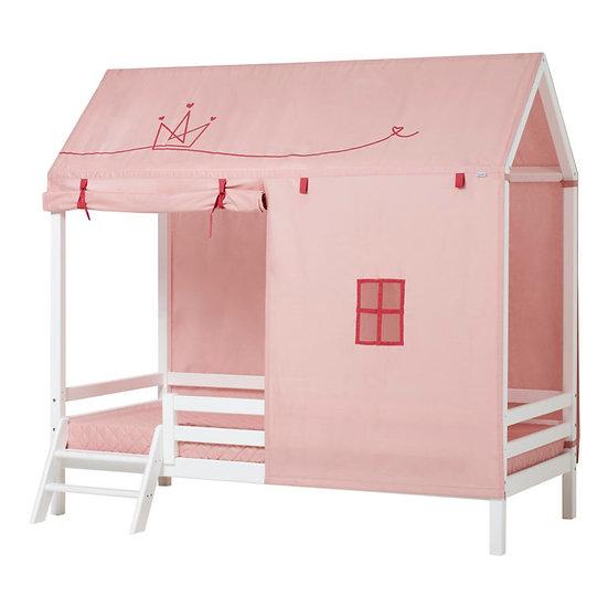 κουρτίνες για παιδικό σπιτάκι ροζ