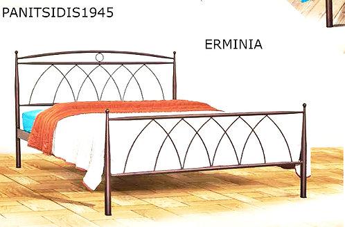 μονό μεταλλικό κρεβάτι για στρώμα 90 Χ 190/200  εκ.Παράγεται και με ουρανό.