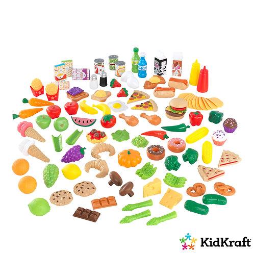 σετ πλαστικών φρούτων λαχανικών χυμών για παιδικό παιχνίδι μαγείρεμα kidkraft