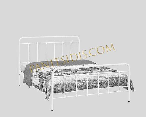 διπλό μεταλλικό κρεβάτι για στρώμα 150Χ200 σε πολλά χρώματα