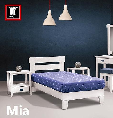 διπλό ξύλινο κρεβάτι πεύκο για ξενοδοχεία ή οικίες για στρώμα 150Χ200