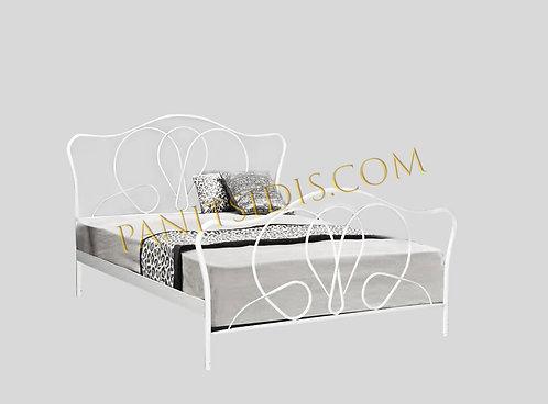 διπλό μεταλλικό-σιδερένιο κρεβάτι για στρώμα 160Χ200 εκ., σε πολλά χρώματα.Για airbnb, ξενοδοχεία και οικίες.